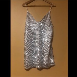 Dresses & Skirts - Silver Sequence Dress